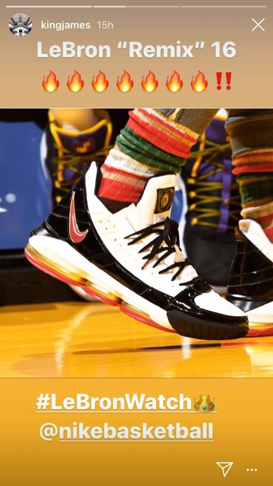 8a8e6d4776ec1 LeBron Shares Photo From The Incredible LeBron  Remix  16 Shoes ...