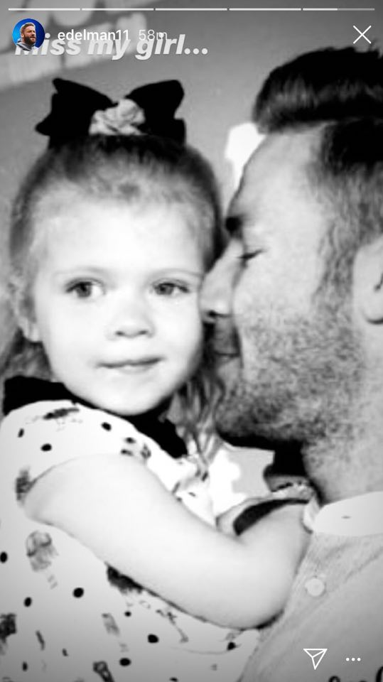 Julian Edelman Shares Adorable Photo Cuddling With His Daughter The Ball Zone